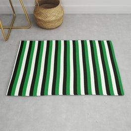 Team Color 4...green,black, white Rug