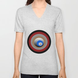 Composition made by circles Unisex V-Neck