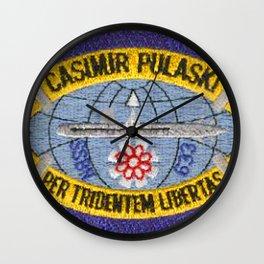 USS CASIMIR PULASKI (SSBN-633) PATCH Wall Clock