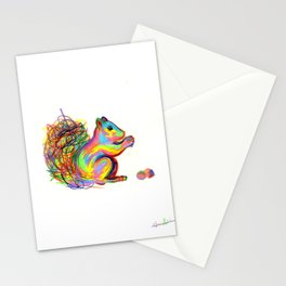 psychedelic squirrel Stationery Cards