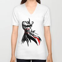 assassins creed V-neck T-shirts featuring Assassins Creed  by iankingart