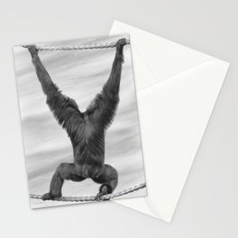 Siamang Monkey Stationery Cards