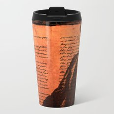 Abraham Lincoln and the Gettysburg Address Metal Travel Mug