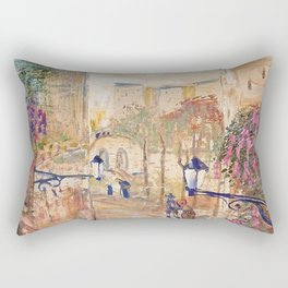 Back Alleyways, Italy floral portrait by Lajos Gulácsy Rectangular Pillow
