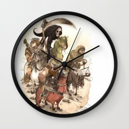 Four Horsemen Wall Clock