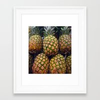 pineapples Framed Art Prints featuring Pineapples by UMe Images