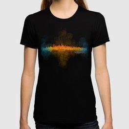Vancouver Canada City Skyline Hq v04 dark T-shirt