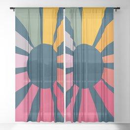 Retro Sunbeam Sheer Curtain