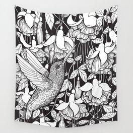 Hummingbird and fuchsia Wall Tapestry