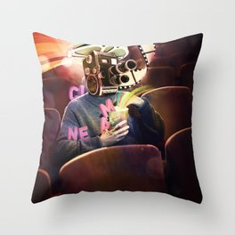 Cinema Poster Throw Pillow