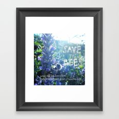 Save the Bees Campaign Framed Art Print