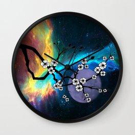 Purple Moon Wall Clock