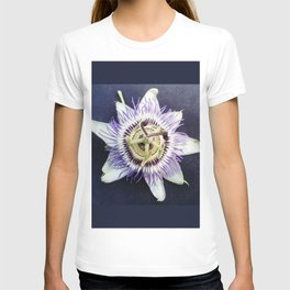 flower and nature - blue flower T-shirt