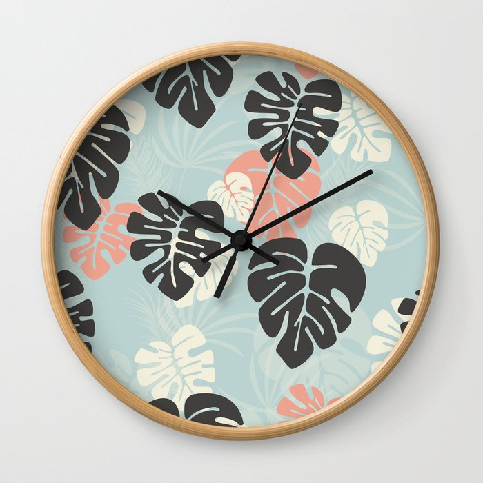 Tropical pattern 053 Wall Clock