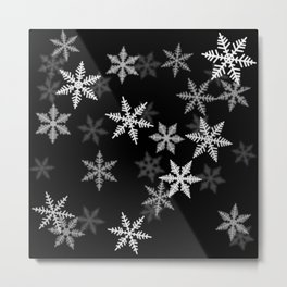 Black and White Winter Metal Print