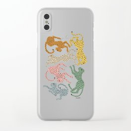 Rainbow Cheetah Clear iPhone Case