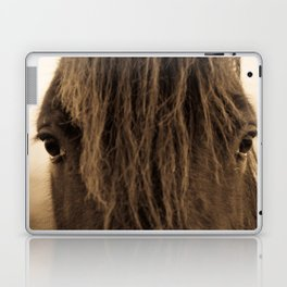 English horse in sepia tones Laptop & iPad Skin
