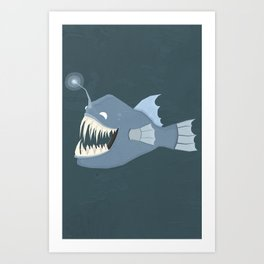 Angler Fish Art Print