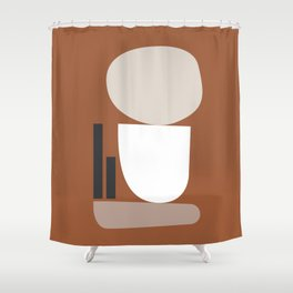 Shape study #11 - Stackable Collection Shower Curtain