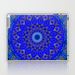 Mandala in Cobalt And Gold Laptop & iPad Skin