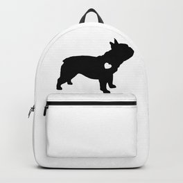 French-Bulldog Black Heart Baby Frenchie Backpack