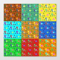 turtles Canvas Prints featuring turtles by vitamin