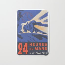 Le Mans 1955, 24hs Le Mans, 1955, original, vintage poster Bath Mat