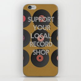 support your local record shop. iPhone Skin