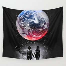 eart red blue dream Wall Tapestry