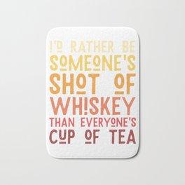 Whisky Cup Tea Saying Bath Mat