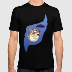 Totoro  SMALL Mens Fitted Tee Black