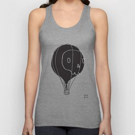 Hot Air Balloon Skull Unisex Tank Top