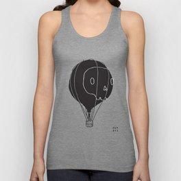 Hot Air Balloon Skull Unisex Tank Top