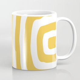 Mid Century Modern Abstract Composition 326 Yellow Coffee Mug