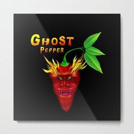 Ghost Pepper. Metal Print