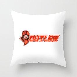 Motorcycle Biker Outlaw Retro Throw Pillow