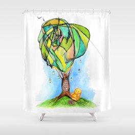 A Bookworm's Dream Shower Curtain