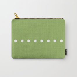 Dots Green Carry-All Pouch
