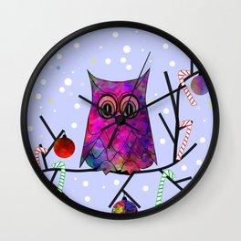 The Festive Owl Wall Clock