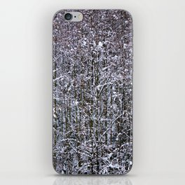 Snow Branches Abstract iPhone Skin