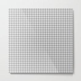 Grey Houndstooth Pattern Metal Print