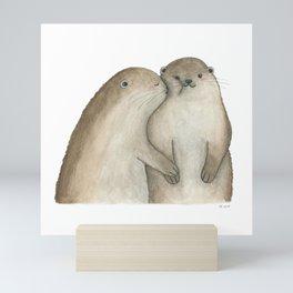 I otterly love you!!! Mini Art Print