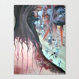 Composing Destiny - Watercolor Painting Canvas Print