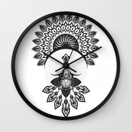 Owl Dreamcatcher w/ Native American Head Dress Wall Clock