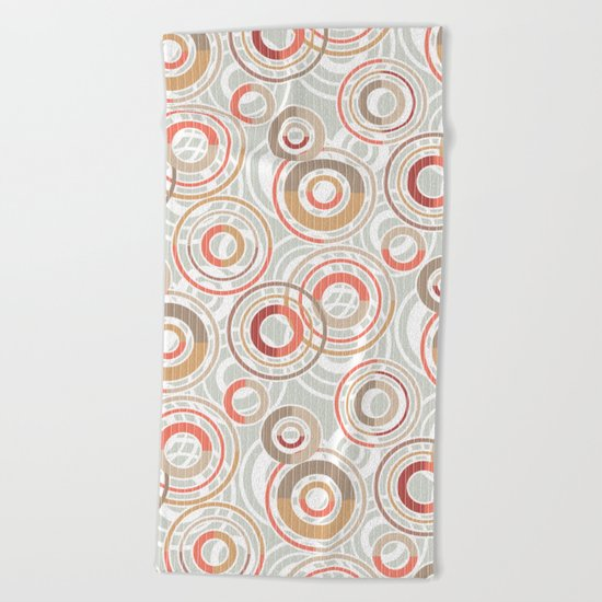 Abstraction.Circles and rings. Beach Towel