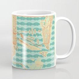Miami Map Retro Coffee Mug
