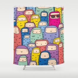 Color Monsters Shower Curtain