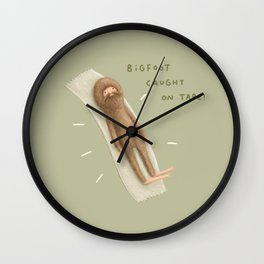 Bigfoot Caught on Tape Wall Clock