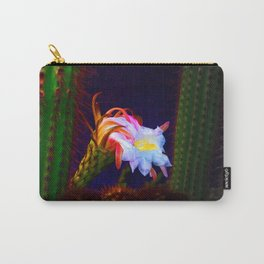 """Cactus Flower At Sunset #105"" Photograph Carry-All Pouch"
