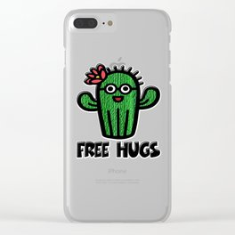 Free Hugs Clear iPhone Case